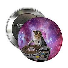 "DJ Space Cat 2.25"" Button"