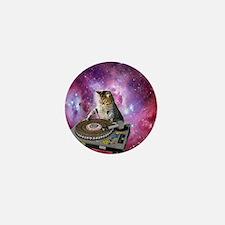 DJ Space Cat Mini Button