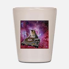 DJ Space Cat Shot Glass