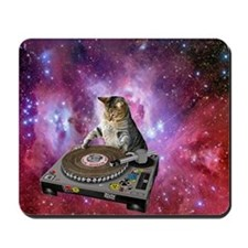 DJ Space Cat Mousepad