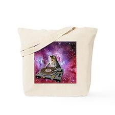 DJ Space Cat Tote Bag