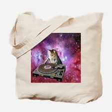 DJ Space Cat Tote Bag