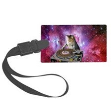DJ Space Cat Luggage Tag