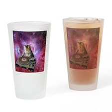 DJ Space Cat Drinking Glass