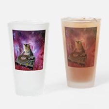 DJ Space Cat Drinking Glass
