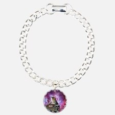 DJ Space Cat Charm Bracelet, One Charm