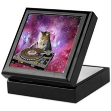 DJ Space Cat Keepsake Box