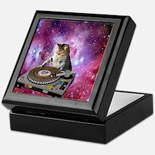 DJ Space Cat Keepsake Box
