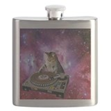 Dj space cat Flasks