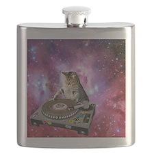 DJ Space Cat Flask