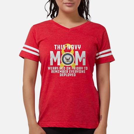 Navy Mom Wears RED Football Shirt Football Shirt