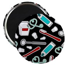 Dental Print Black with Red and Blue Magnets