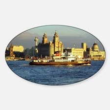 Mersey Ferry and Liverpool Waterfro Sticker (Oval)