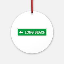 Roadmarker Long Beach (CA) Ornament (Round)