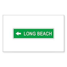 Roadmarker Long Beach (CA) Rectangle Decal