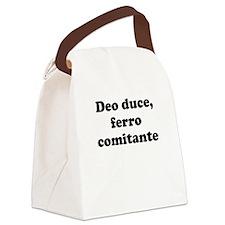 Deo duce, ferro comitante Canvas Lunch Bag