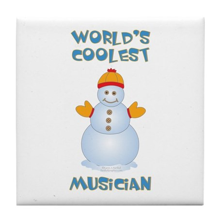 World's Coolest Musician Tile Coaster