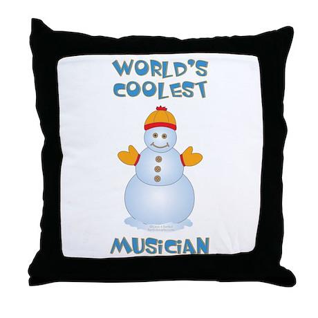 World's Coolest Musician Throw Pillow