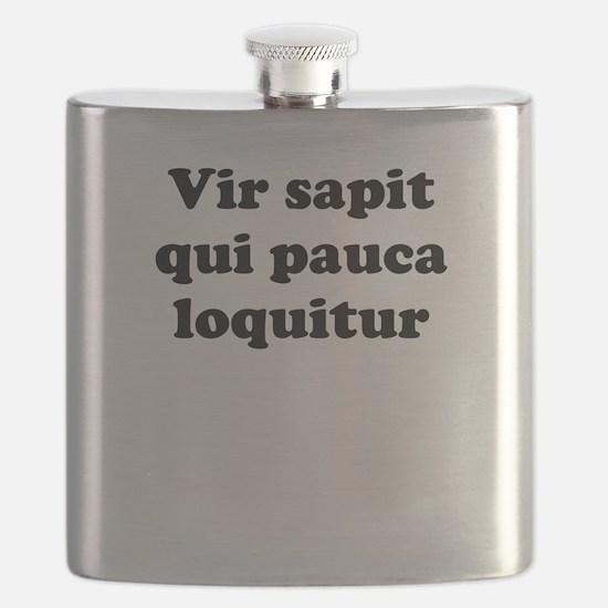 Vir sapit qui pauca loquitur Flask