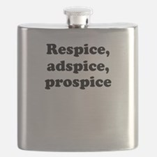 Respice, adspice, prospice Flask