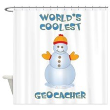 World's Coolest Geocacher Shower Curtain