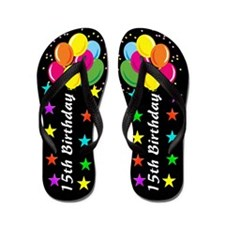 COLORFUL 15TH Flip Flops