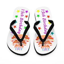 GLITZY 15TH Flip Flops