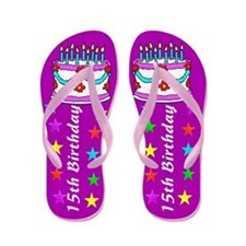 FABULOUS 15TH Flip Flops
