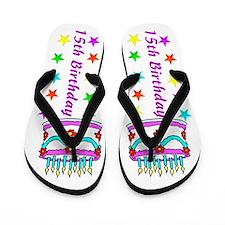 SWEET 15TH Flip Flops