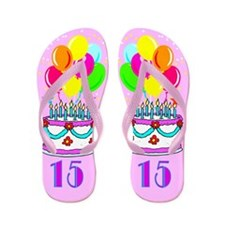 SNAZZY 15TH Flip Flops