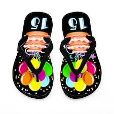 DAZZLING 15TH Flip Flops
