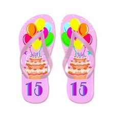 GORGEOUS 15TH Flip Flops