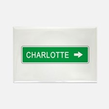 Roadmarker Charlotte (NC) Rectangle Magnet (10 pac