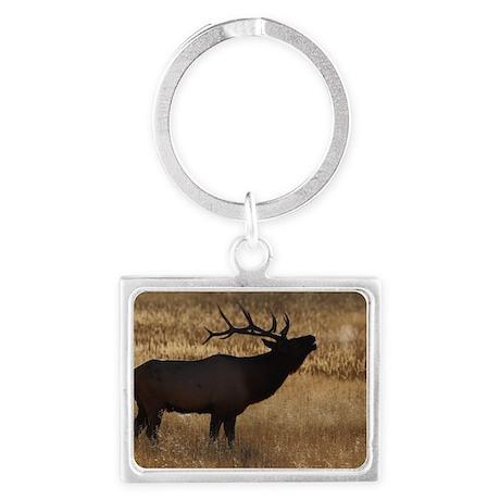 elk bugling Landscape Keychain