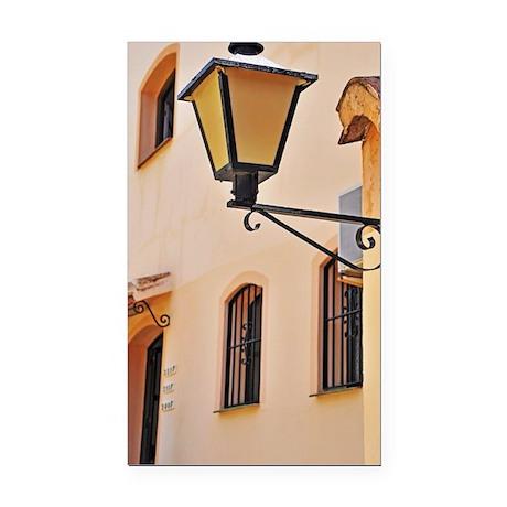Street lamp post Rectangle Car Magnet