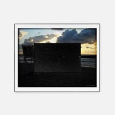 Lifeguard Chair against Lake Erie Sunset Picture Frame