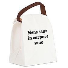 Mens sana in corpore sano Canvas Lunch Bag