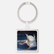 Duck Butt Square Keychain