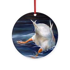 Duck Butt Round Ornament