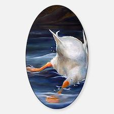 Duck Butt Sticker (Oval)