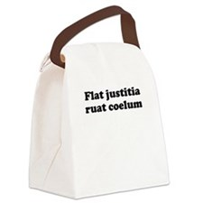 Flat justitia ruat coelum Canvas Lunch Bag