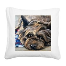Waiting for the Wizard Square Canvas Pillow