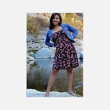 Young Hispanic Woman Rectangle Magnet