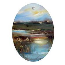 Marsh Oval Ornament