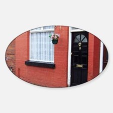 George Harrison's Childhood Home, L Sticker (Oval)