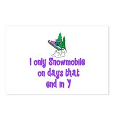 SnowmobileChick Days Postcards (Package of 8)