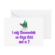 SnowmobileChick Days Greeting Cards (Pk of 10)