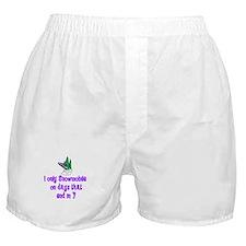SnowmobileChick Days Boxer Shorts