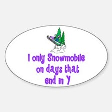 SnowmobileChick Days Oval Decal