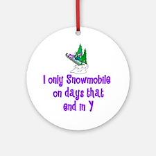 SnowmobileChick Days Ornament (Round)